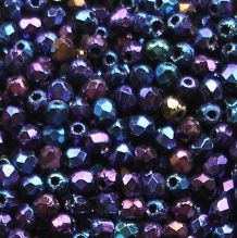 2.5mm Fire Polished, Blue Iris - 100